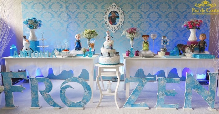 decoracao frozen