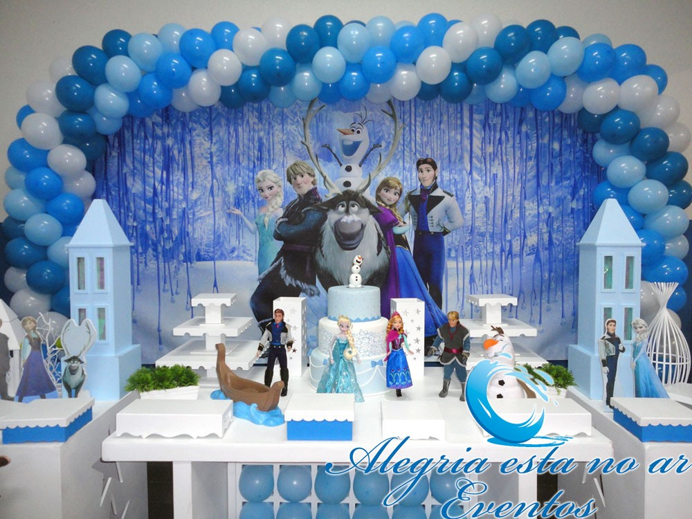 decoracao de festa tema frozen display de chao