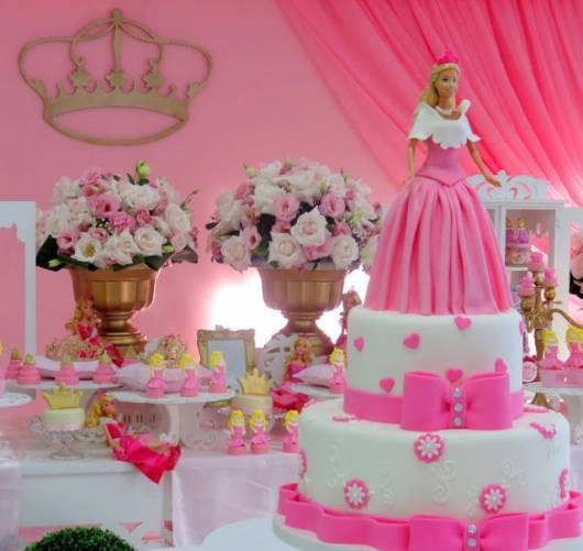 festa barbie princesa super