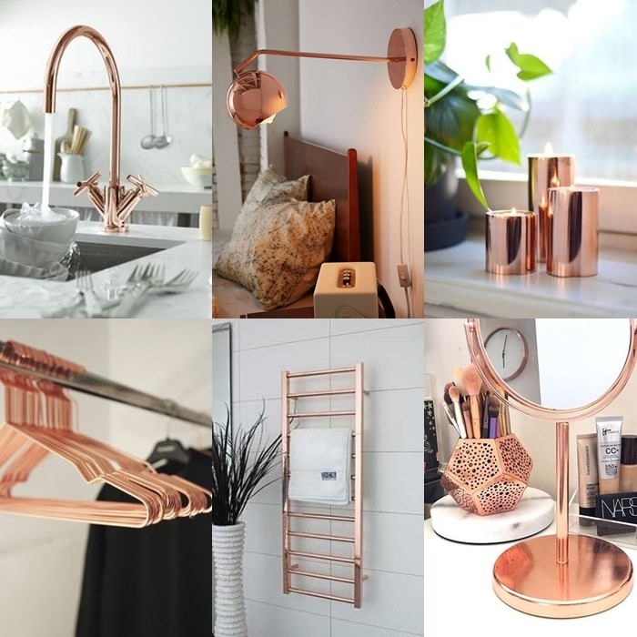 decoracao rose gold