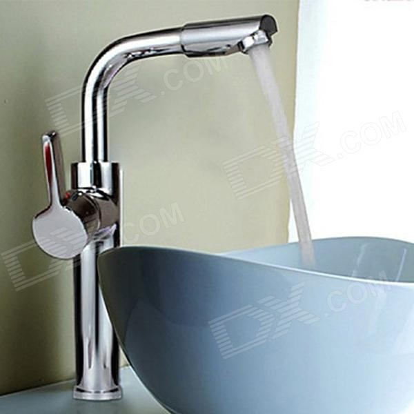 ydl f 0520 fashionable bathroom rotatable countertop sink faucet silver