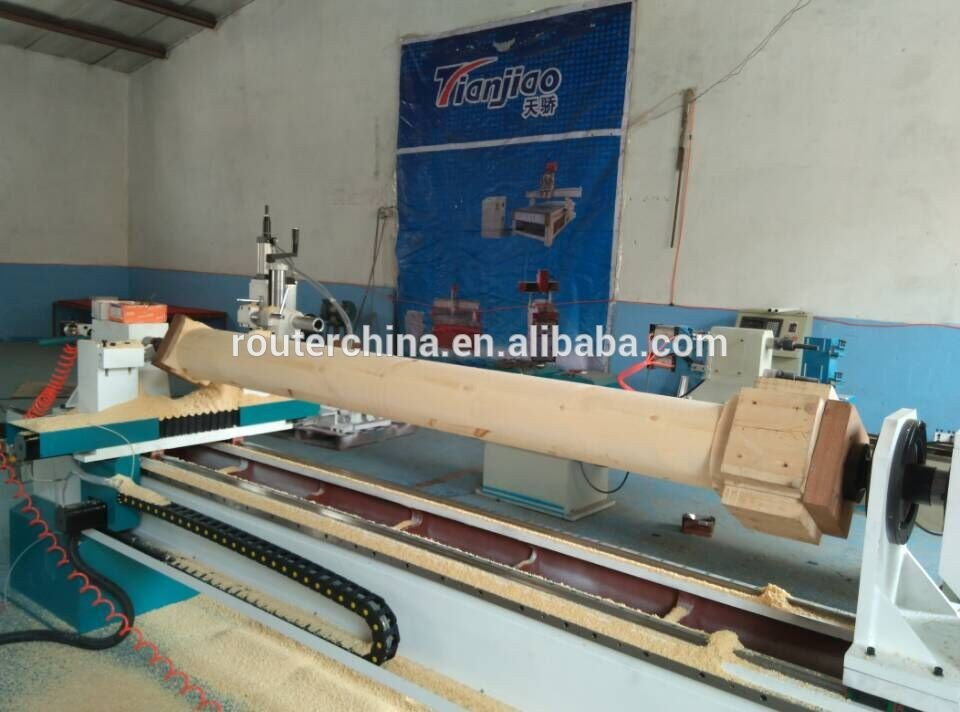 tj2030 factory price heavy cast iron bed staricase baluster handrails cnc wood copy lathe
