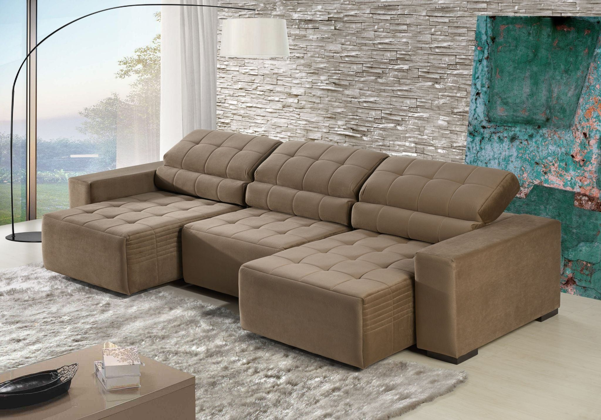 sofa retratil 4 lugares