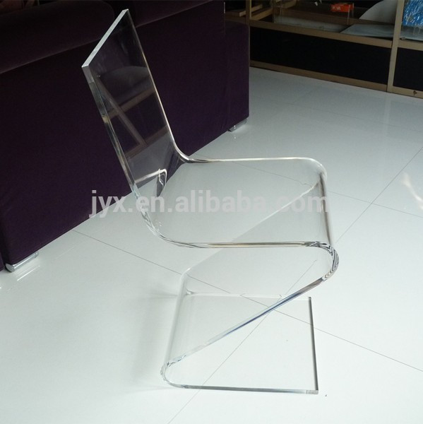 unique z shaped clear acrylic chair lucite chairs for home restaurant bar wholesale