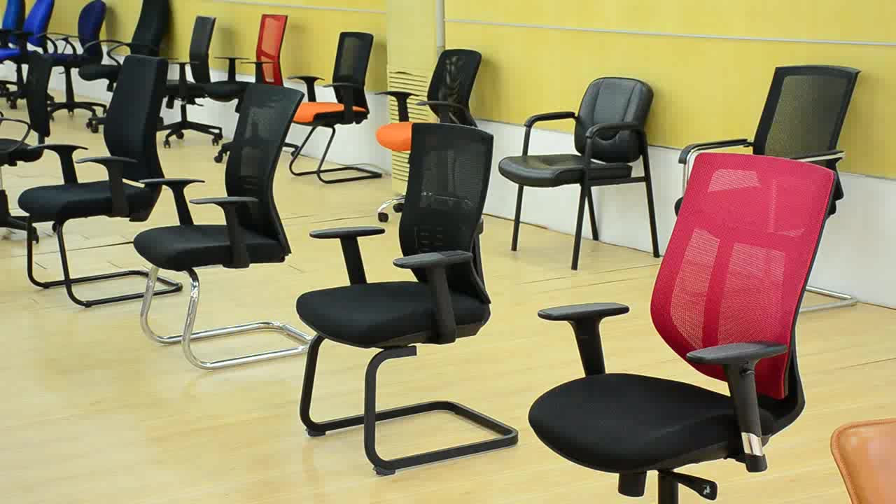 Adjustable executive office chairs with fixed