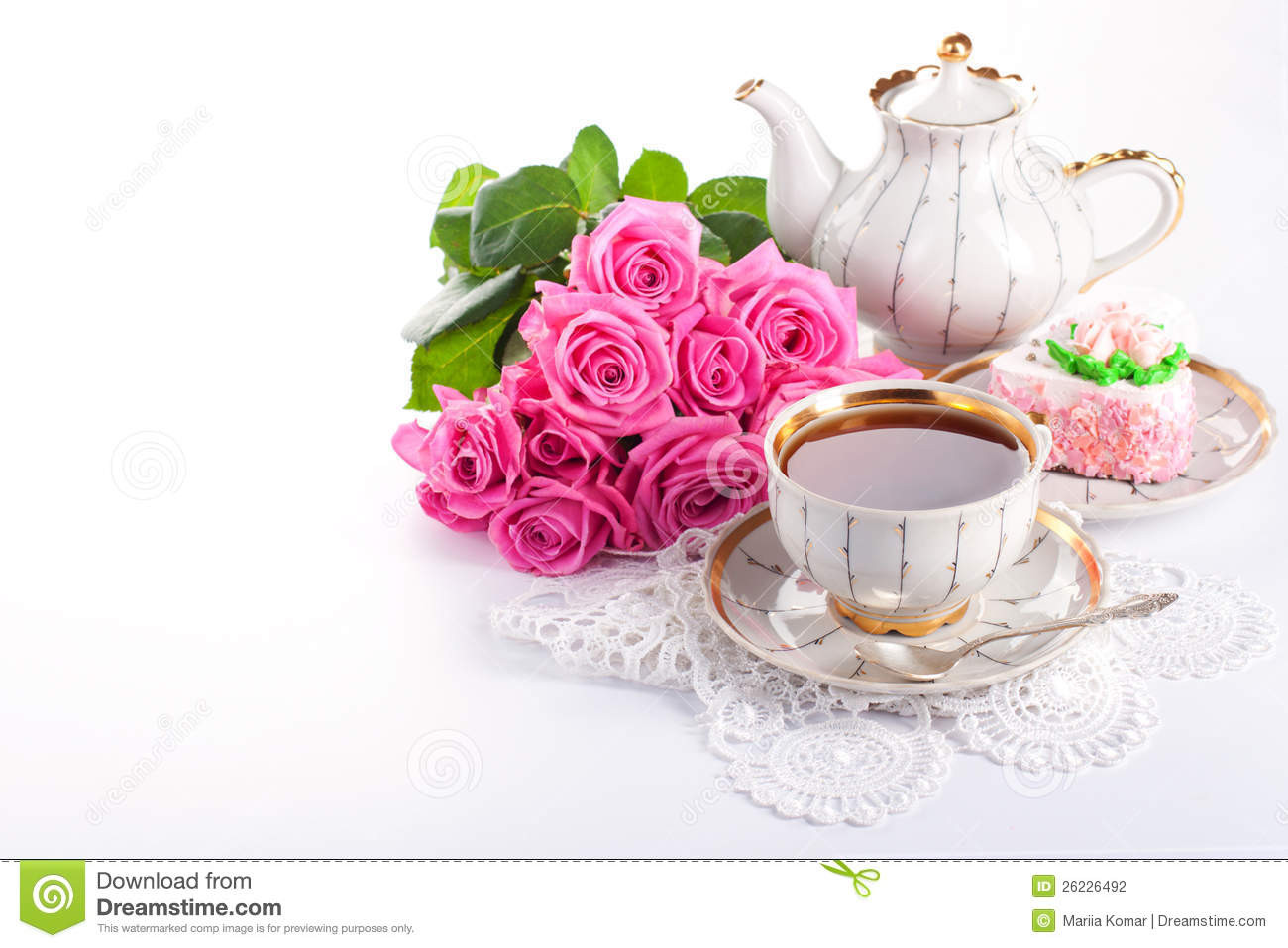 stock photography up tea roses image