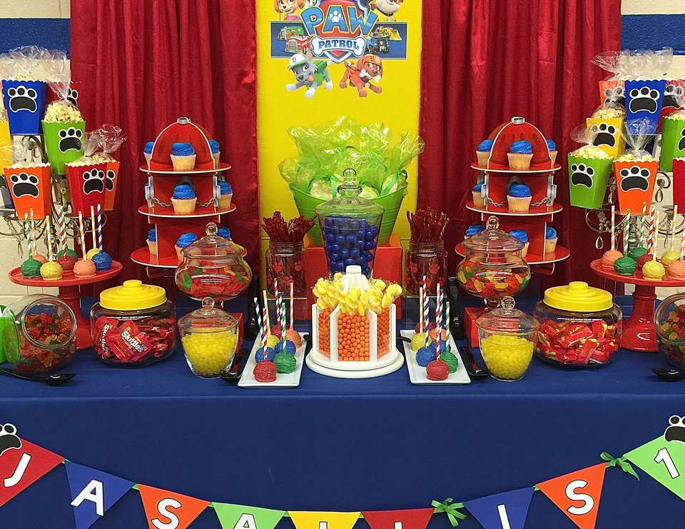 throw paw patrol party