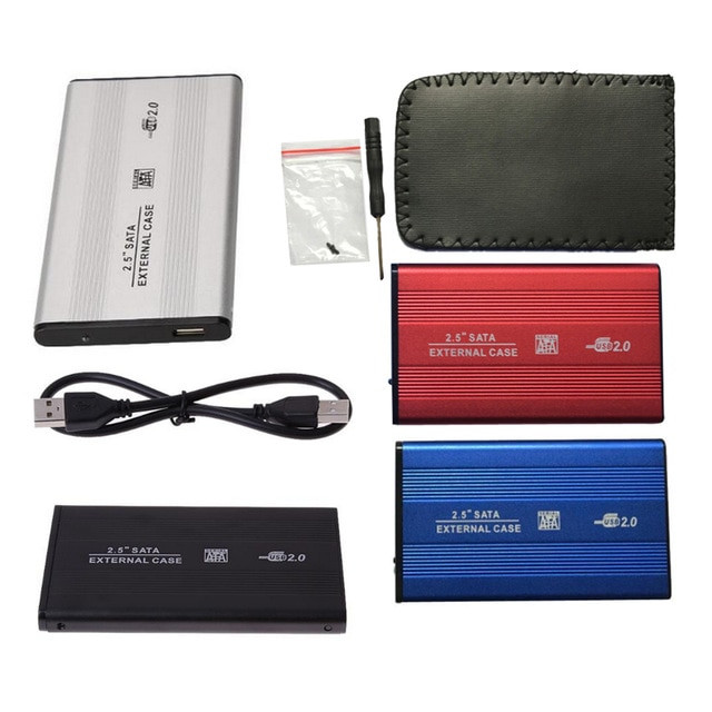 2 5inch USB 2 0 External HDD Enclosure Box 480mbps Support 3TB Aluminum HDD Drive Case 640x640