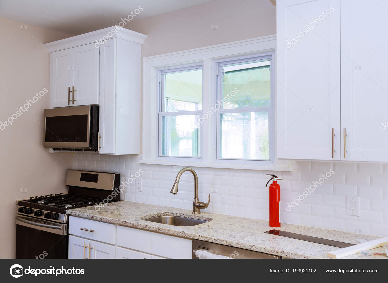 stock photo close up of a kitchen