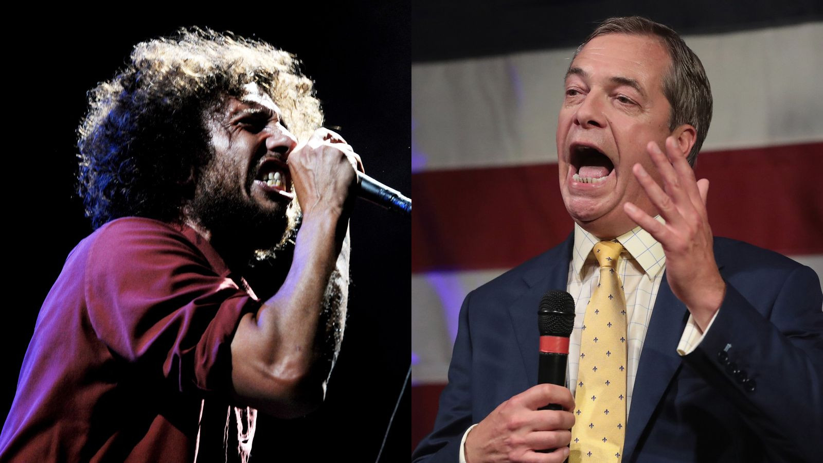 rage against the machine send nigel farage legal warning over podcast