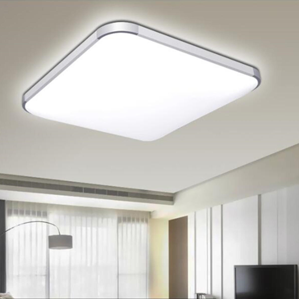 24W LED Modern Flush Mount Ceiling Light Bedroom Lamp Home Fixture With Remote p