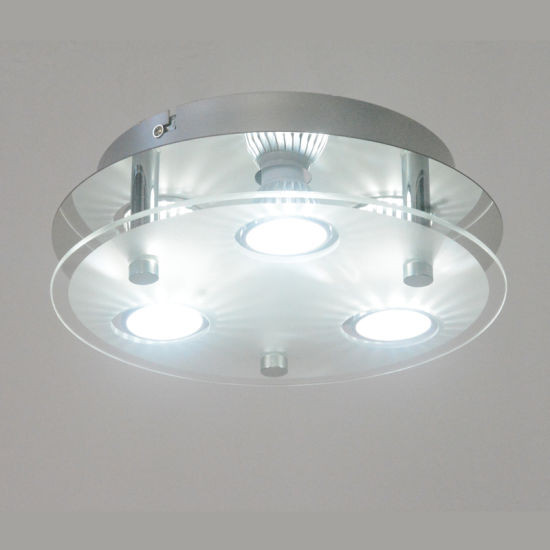 product Kitchen Round LED Ceiling Lamp Light Flush Mount Light Fixture with Glass Frosted Shade rghsrenug