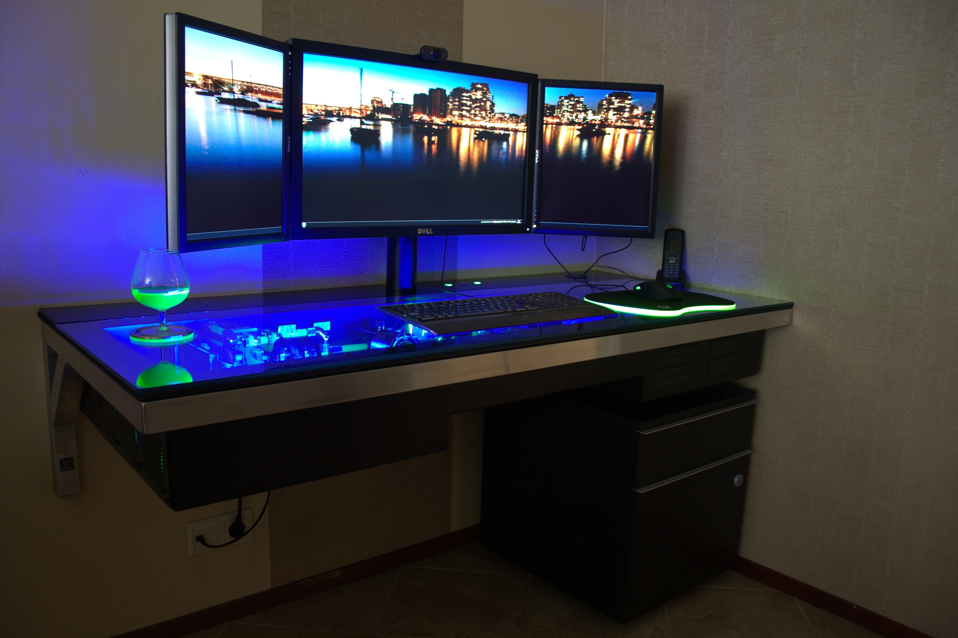 this is a table with a builtin pc case
