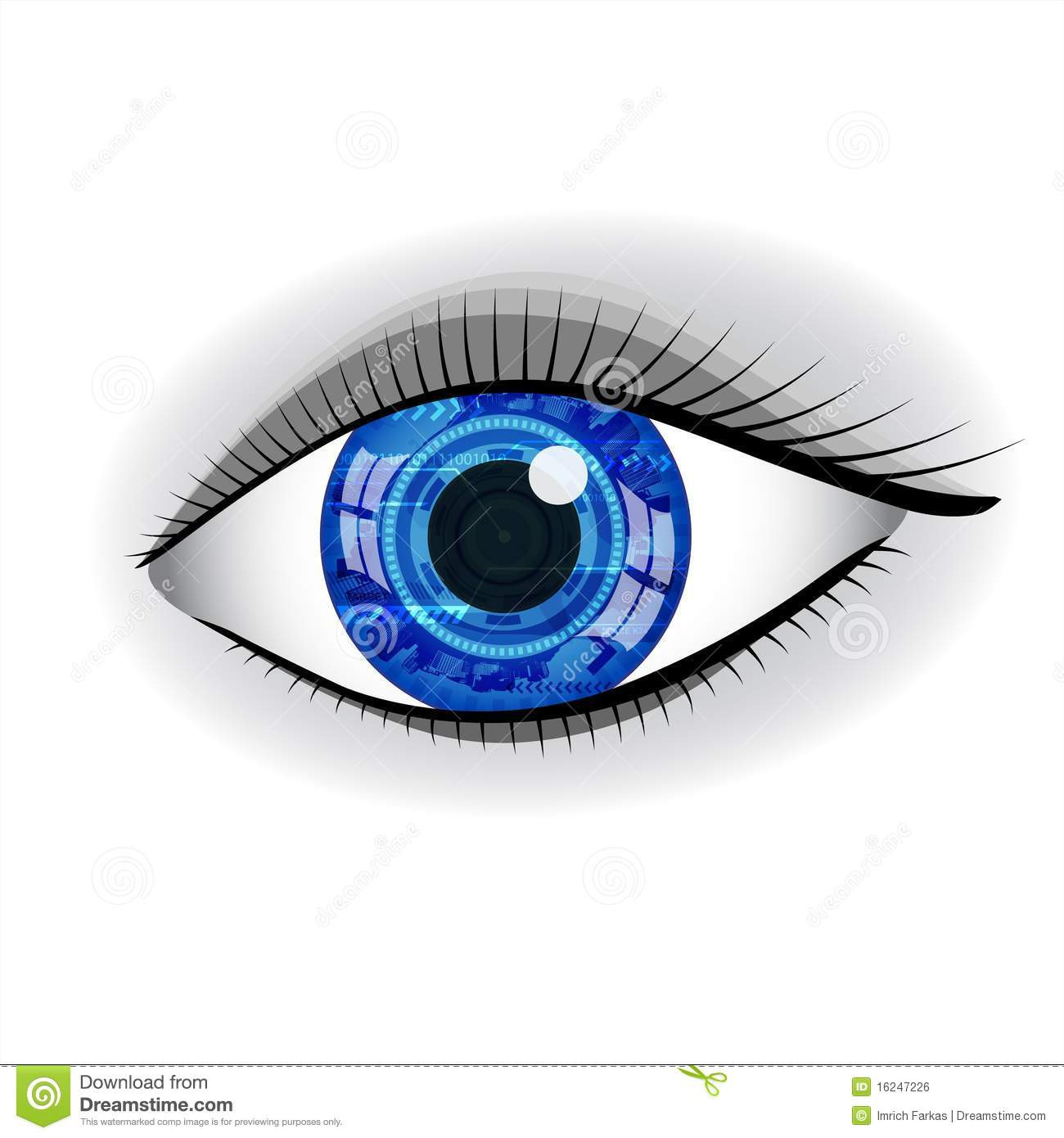 royalty free stock image human blue technology eye image