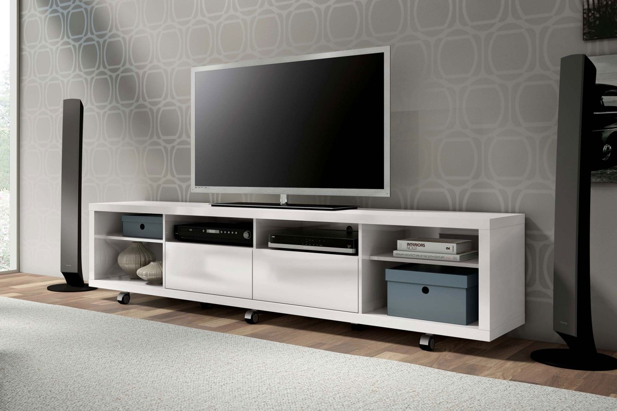 Manhattan fort Cabrini TV Stand 22 in White Gloss p