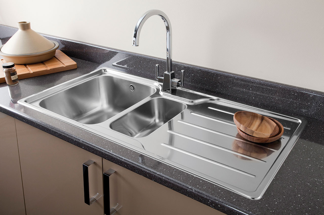 its all in the detail chrome or brushed nickel finish kitchen tap for your stainless steel kitchen sink
