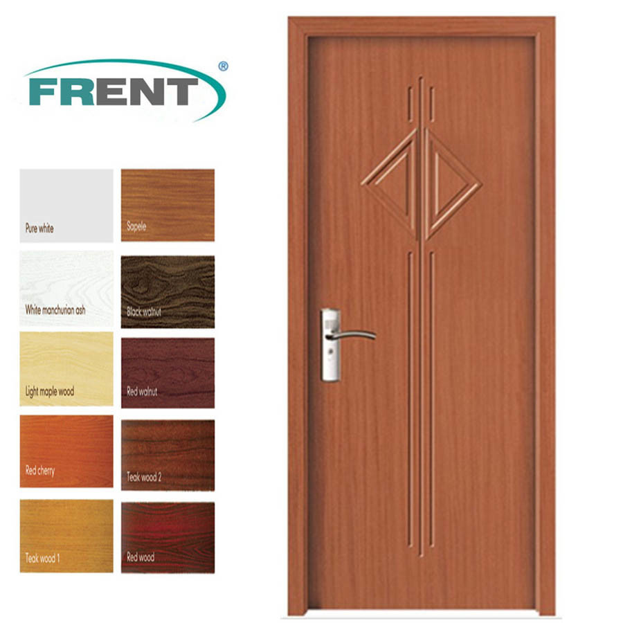 product PVC Bathroom Wooden Door Designs with PVC Coating euushoygg