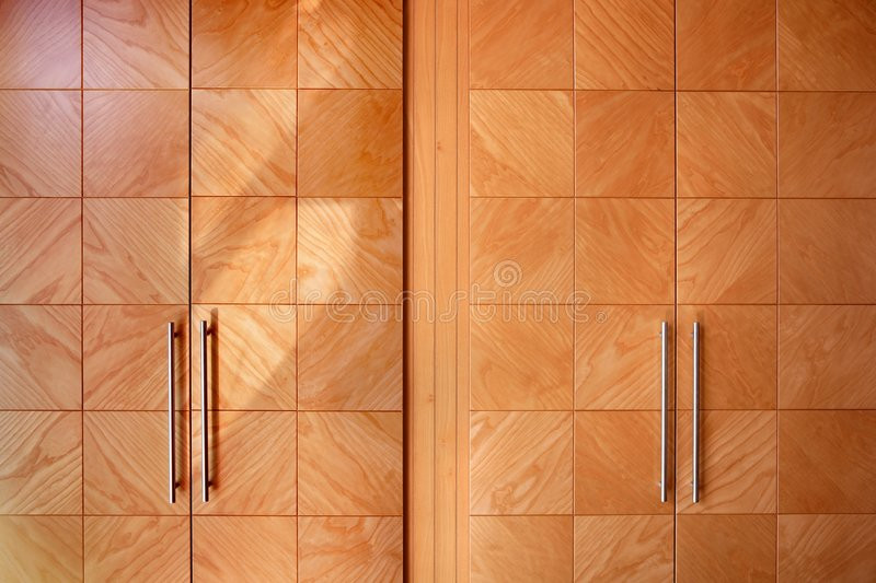 royalty free stock photography wooden office modern closet orange doors image