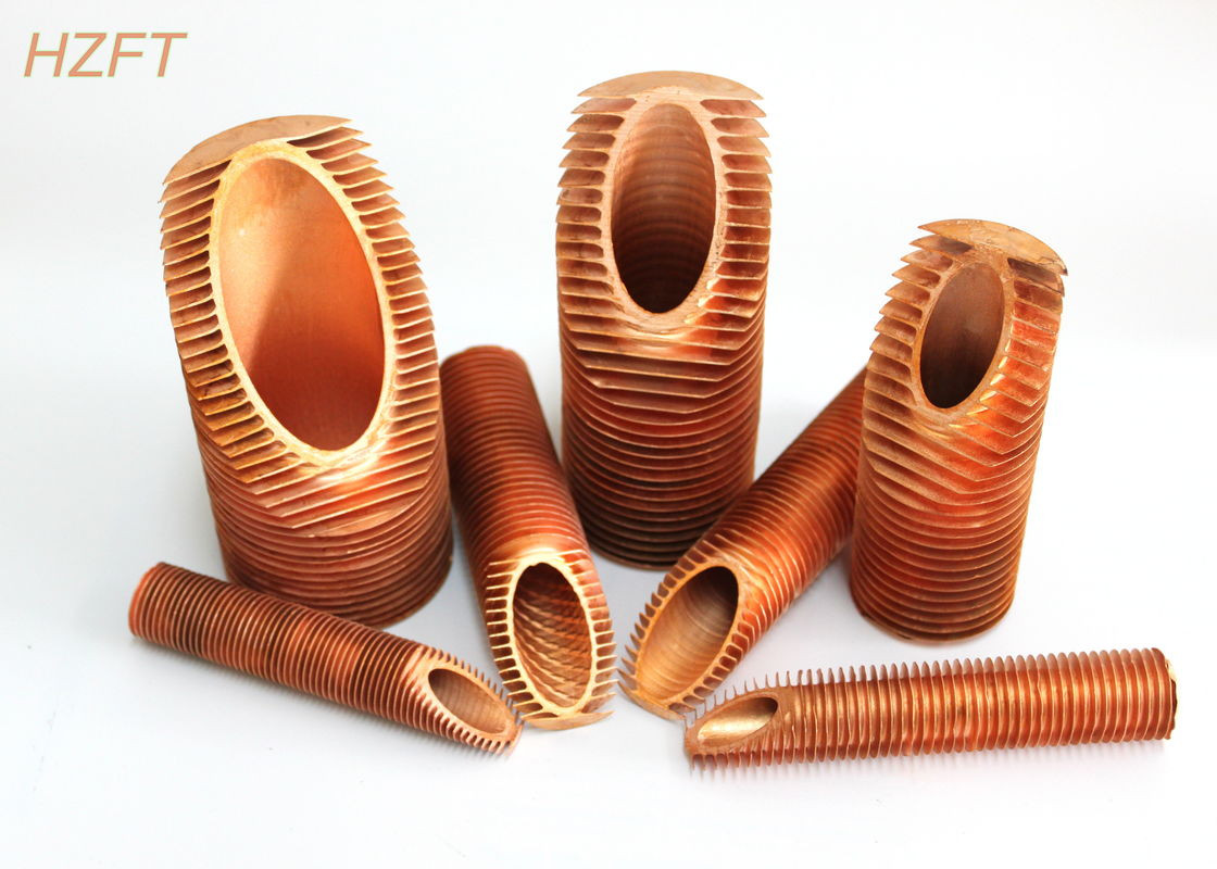 quality hot water tanks low copper finned tube fitting vibration resistance inner dia 19 72mm